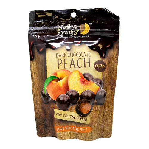 Dark Chocolate Peach Chews 8/7oz