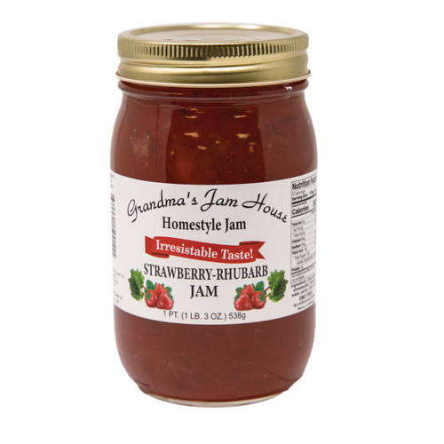 Homestyle Strawberry Rhubarb Jam 12/16oz