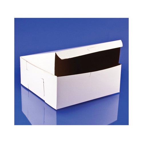 10x10x4 White Bakery Box Lock Corner 100ct