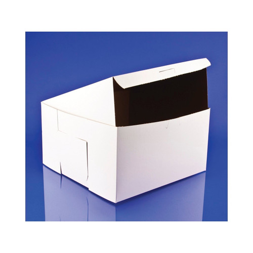 10x10x5.5 White Bakery Box Lock Corner 100ct