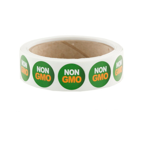 "Green ""NON GMO"" Labels 500ct"