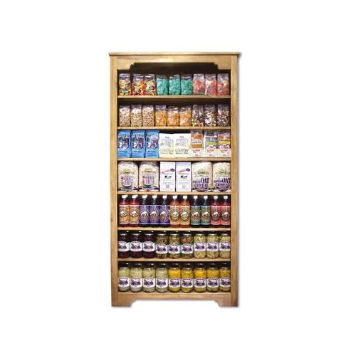 "Wooden Shelf Display 3'x6'x13"" 1ea"