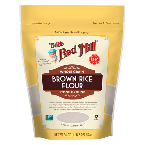 Gluten Free Brown Rice Flour 4/24oz