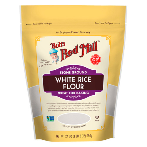 Gluten Free White Rice Flour 4/24oz