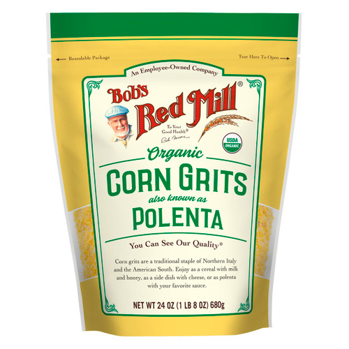 Organic Corn Grits 4/24oz