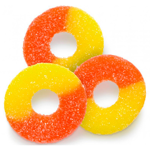 Peach Gummi Rings 4/4.5lb
