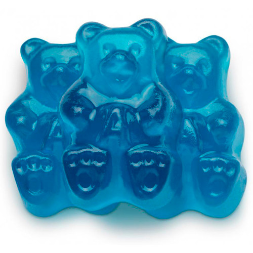 Beary Blue Raspberry Gummi Bears 4/5lb