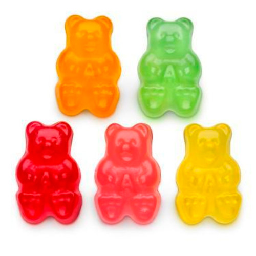 Natural Flavored Gummi Bears 4/5lb