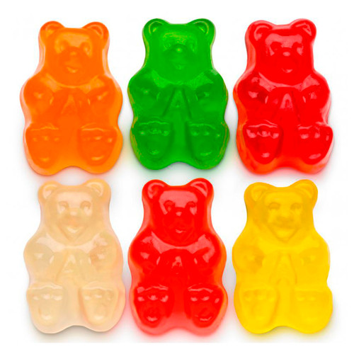 Assorted Gummi Bears, 6 Flavors 4/5lb