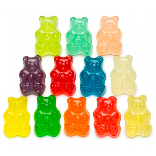 Assorted Gummi Bears, 12 Flavors 4/5lb