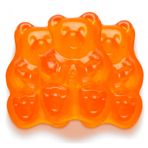 Ornery Orange Gummi Bears 4/5lb