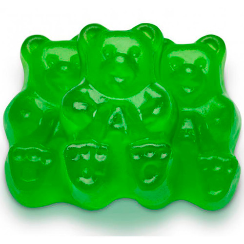 Granny Smith Apple Gummi Bears 4/5lb