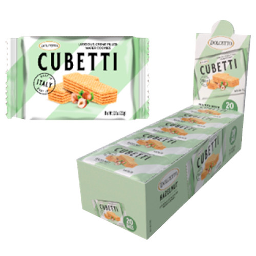 Cubetti Hazelnut Wafers 20ct