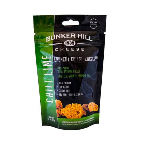 Crunchy Cheese Crisps, Chili Lime 12/2oz