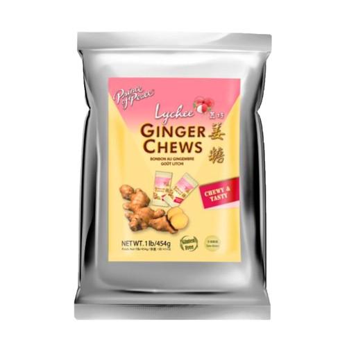 Lychee Ginger Chews 12/1lb