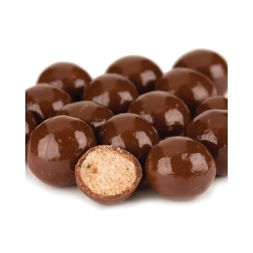 Milk Chocolate Malt Balls, Reduced Sugar Added 10lb