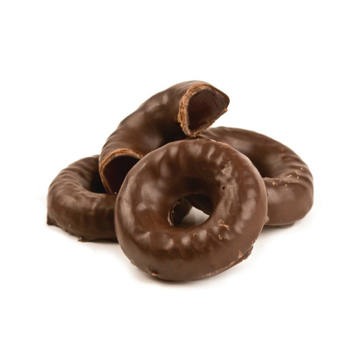 Chocolate Covered Raspberry Jell Rings 5lb