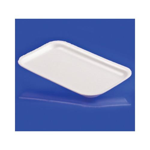 """17S White Foam Tray 8""""x5"""" 1000ct"""