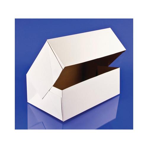 200ct Auto. Donut Box Wht 10 inch x6.25 inch x3.5 inch