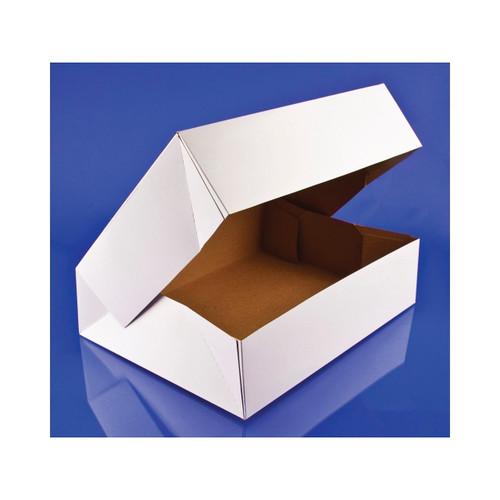 125ct Auto. Donut Box Wht 12.5 inch x9 3/8 inch x3.25 inch