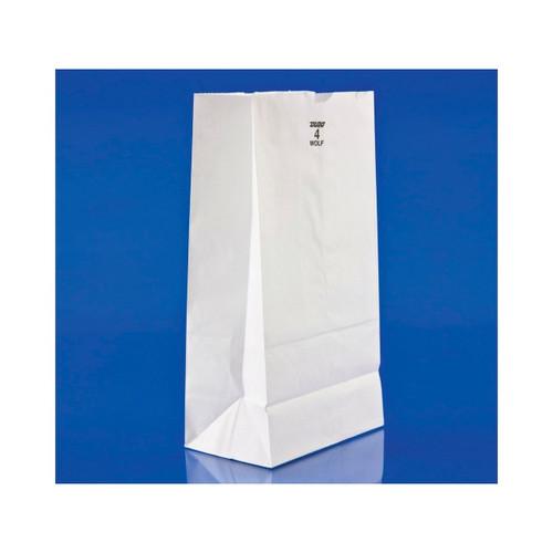 4lb White Paper Bags 5x3.25x9.5 500ct