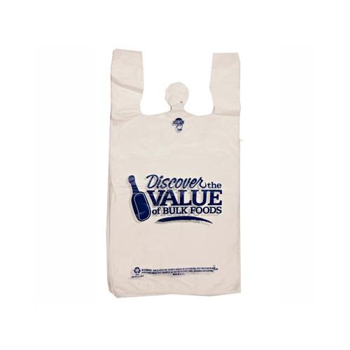"""Discover The Value Of Bulk Foods"" T-Shirt Sacks 12""x7""x22.5"" 1000ct"