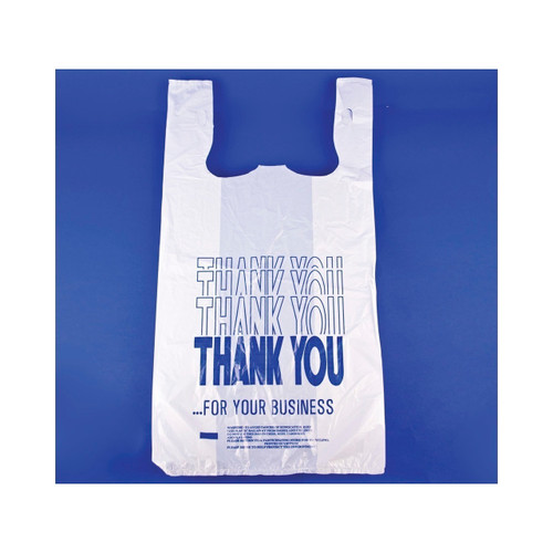 """Thank You"" T-Shirt Sacks, 11.5x6.5x21.5 1000ct"