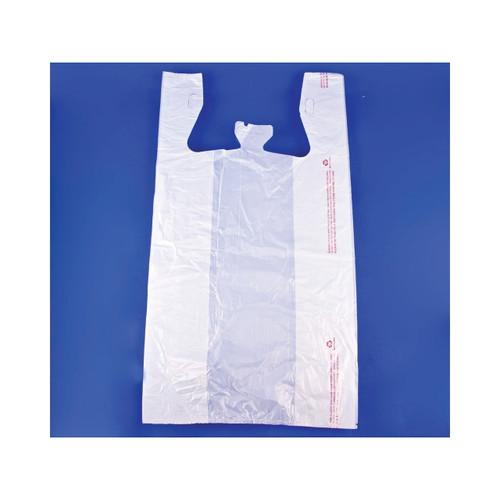 1000ct T-Shirt Sack Plain White
