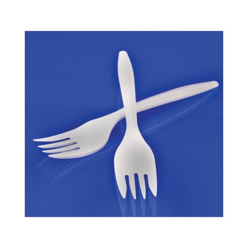 Medium Weight White Plastic Forks 1000ct