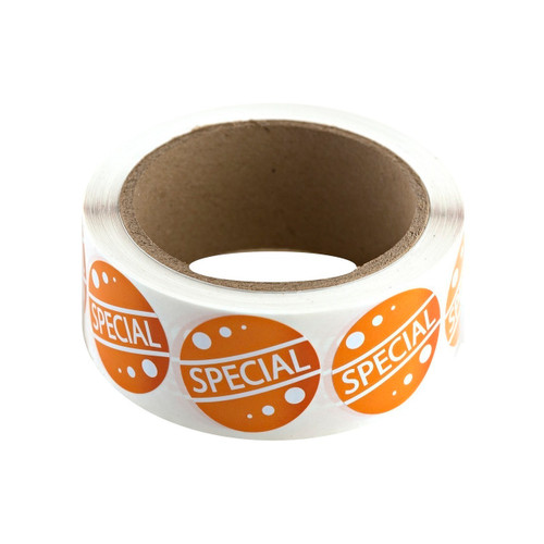 "Orange ""Special"" Labels  500ct"