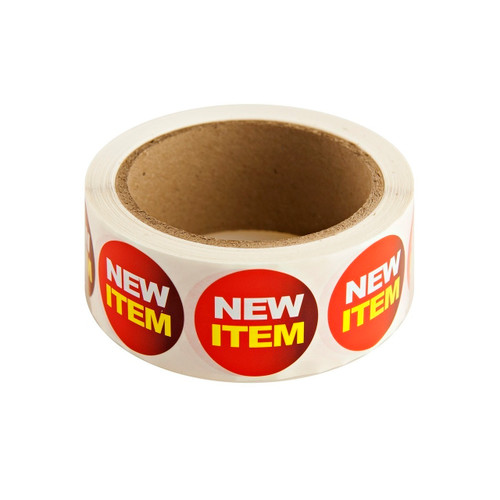 "Red ""New Item"" Labels 500ct"