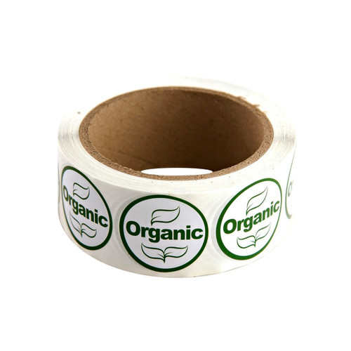 "Green/White ""Organic"" Labels 500ct"
