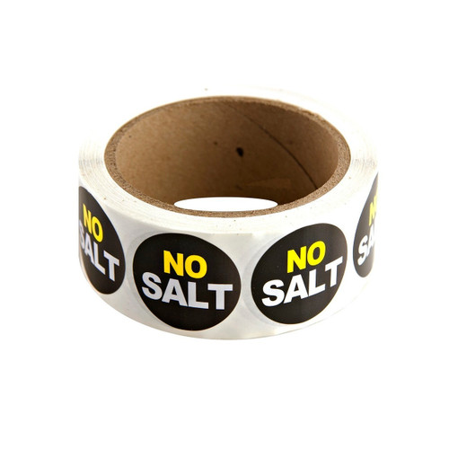 "Black ""No Salt"" Labels 500ct"