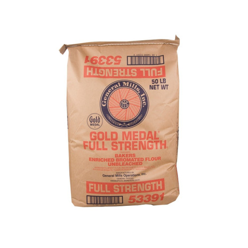 GM Full Strength Unbleached Flour 50lb