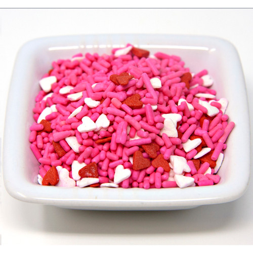 Heart Shape Sprinkle Mix 6lb View Product Image