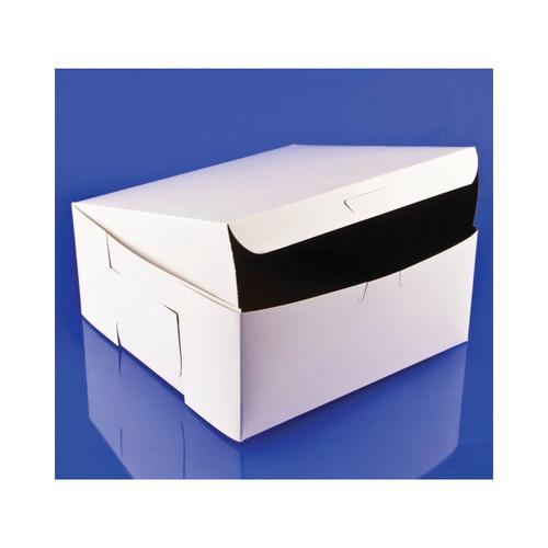 9x9x4 White Bakery Box Lock Corner 200ct