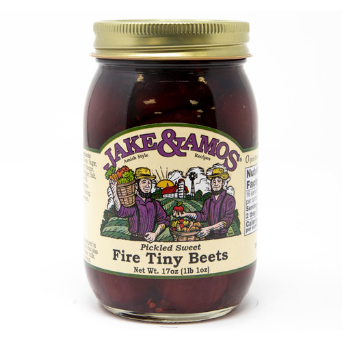J&A Pickled Sweet Fire Tiny Beets 12/17oz