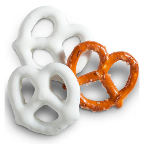 White Frosted Pretzels 10lb View Product Image