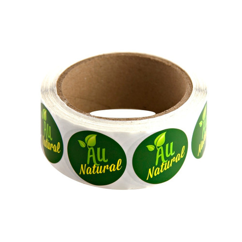 "Green ""All Natural"" Labels 500ct"