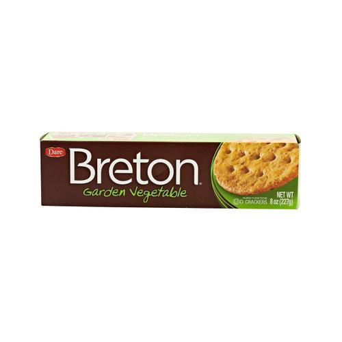 12/8oz Breton Garden Vegetable Crackers