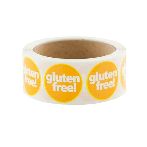 "Gold ""gluten free!"" Labels 500ct"