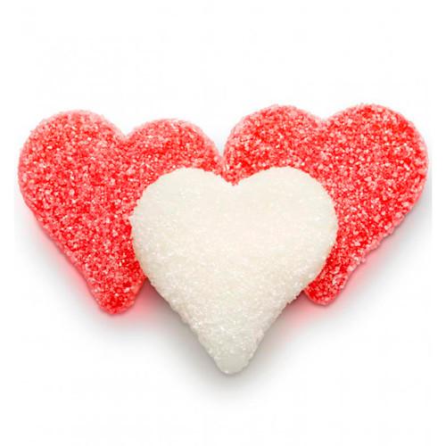 Sour Sanded Gummi Valentine Hearts 4/4.5lb
