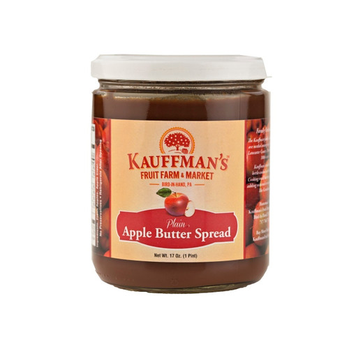Apple Butter Spread (No Sugar, No Spice) 12/17oz