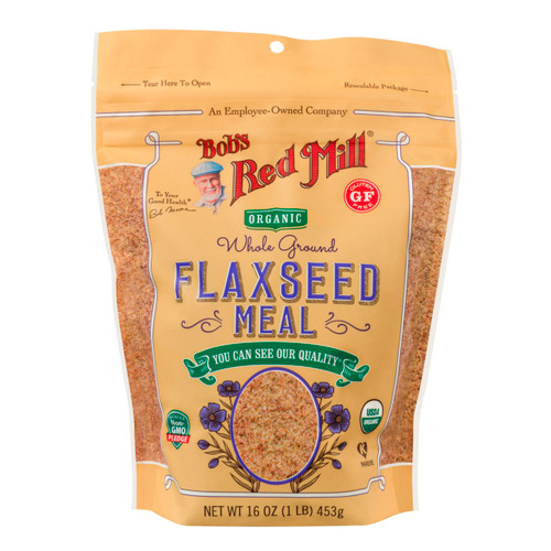 Gluten Free Organic Brown Flaxseed Meal 4/16oz