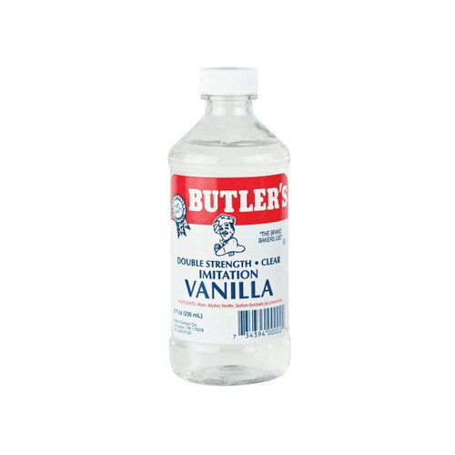 12/8oz Imitation Vanilla Dbl Strength, Clear