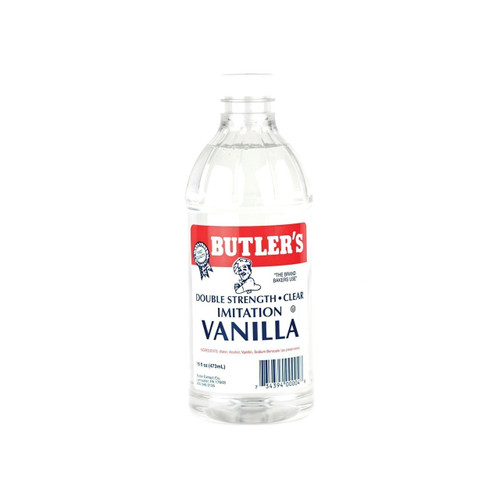 12/16oz Imitation Vanilla Dbl Strength, Clear