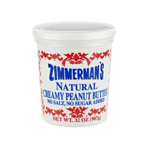 6/32oz Natural Peanut Butter, No Salt
