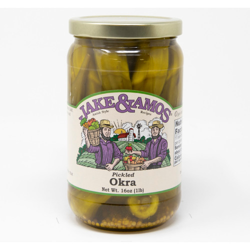 12/16oz Jake and Amos  Pickled Okra
