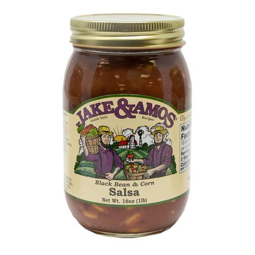J&A Black Bean & Corn Salsa 12/16oz