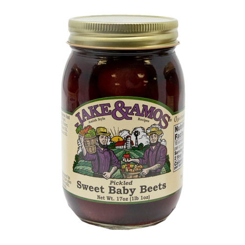 12/16oz Jake and Amos  Pickled Sweet Baby Beets
